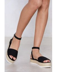 Nasty Gal - Are You Up To It Espadrille Platform - Lyst