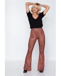 634e9bf8b80e3e Nasty Gal Hiss Independent Snake Pants in Brown - Lyst