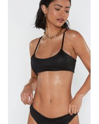 "Nasty Gal ""embossed Crop Top Bikini Set"""