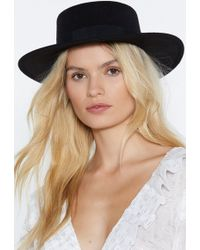 "Nasty Gal - ""heads I Win Wide Hat"" - Lyst"