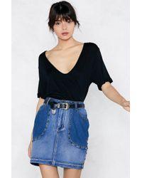 Nasty Gal | Deep Pockets Denim Skirt | Lyst