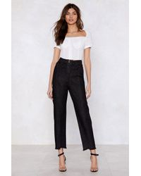 Nasty Gal - Zip And Happening High-waisted Jeans - Lyst