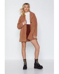 Nasty Gal - Long December Faux Fur Coat - Lyst