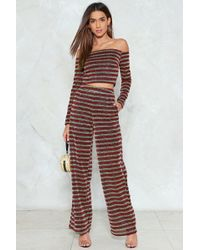 Nasty Gal - Bring The Disco Crop Top And Pants Set - Lyst