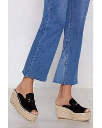 """Nasty Gal - """"up And At 'em Espadrille Mule"""" - Lyst"""