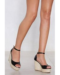 Nasty Gal - Sunny Afternoon Espadrille Wedge Sandal - Lyst