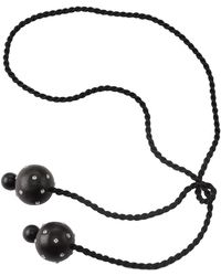 Natori - Josie Acacia Wood With Silver Round Dangling Necklace - Lyst