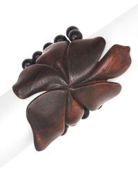Natori - Josie Acacia Wood Floral Bracelet - Lyst