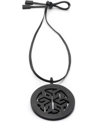 Natori - Josie Horn Round Necklace - Lyst
