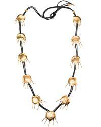 Natori - Josie Gold Brass Tulip Necklace - Lyst