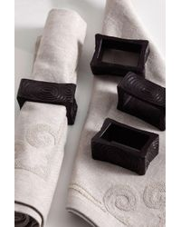 Natori - Wood Grain Napkin Ring Set - Lyst