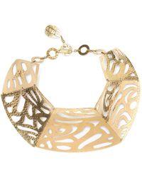 Natori | Josie Gold Cut-out Necklace | Lyst