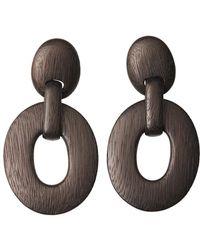 Natori | Acacia Wood Oval Link Earrings | Lyst