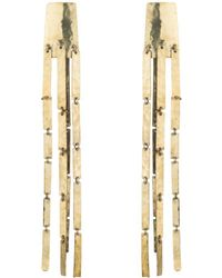 Natori - Josie Hammered Brass Cascade Earrings - Lyst