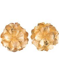 Natori - Josie Gold Brass Peony Earrings - Lyst