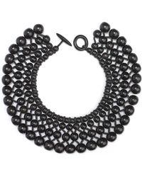 Natori - Josie Four Layer Beaded Necklace - Lyst