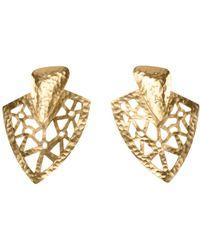 Natori - Josie Goldplated Brass Cutout Earrings - Lyst