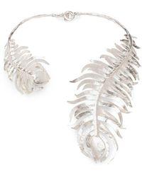 Natori - Josie Silver Plated Brass Peacock Necklace - Lyst