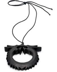 Natori | Josie Acacia Wood Double Dragon Necklace | Lyst