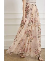 Needle & Thread - Venetian Rose Maxi Skirt - Lyst