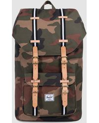 Herschel Supply Co. - Little America Offset Backpack In Camo/black/white - Lyst