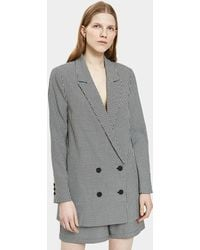Just Female - Amalie Blazer In Houndstooth - Lyst
