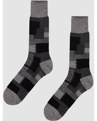 Anonymous Ism - Patch Work Crew Sock In Black - Lyst