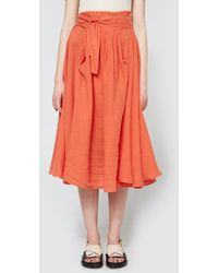 Black Crane - Wrap Skirt In Paprika - Lyst