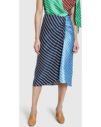 Tibi - Delphina Stripe Skirt - Lyst