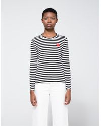 Need Supply Co. - Red Heart Play Striped Long Sleeve T-shirt - Lyst