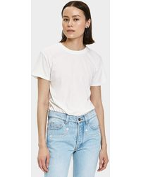 Bliss and Mischief - Destroyed Slim Tee In White - Lyst
