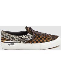 f6cb4c96c57552 Lyst - Vans Og Slip-on 59 Lx Suede Sneaker In Honey Mustard ...