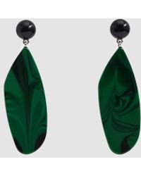 Rachel Comey - Splitleap Black Malachite Earrings - Lyst