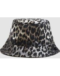 Ganni - Cherry Blossom Bucket Hat - Lyst