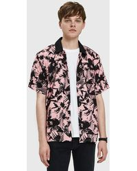 Obey - Nate Woven Shirt In Pink Multi - Lyst