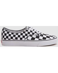 Vans - Authentic Trainer In Black White Checker - Lyst