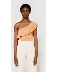 Farrow - One Shoulder Ruffle Bodysuit - Lyst