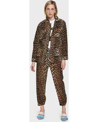 Ganni - Camberwell Coat In Leopard - Lyst