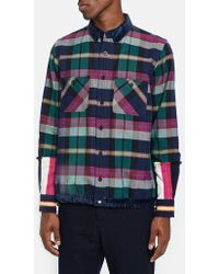 Sacai - Double Faced Flannel Shirt - Lyst