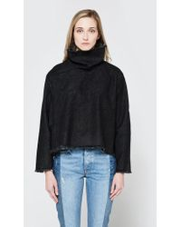 Ashley Rowe - Fitted Turtleneck In Black - Lyst