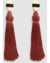 Lizzie Fortunato - Sienna Luxe Tassel Earrings - Lyst