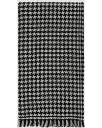 Officine Generale - Houndstooth Italian Wool-cashmere Scarf - Lyst