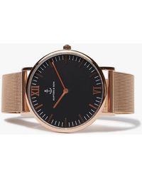 KAPTEN & SON | Campus Black Mesh Watch | Lyst