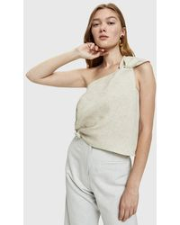 Shaina Mote - Lark Knotted Linen Top - Lyst