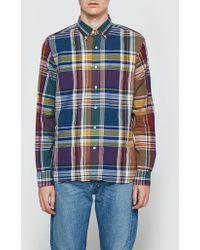 Beams Plus - Wide Check Long Sleeve Shirt - Lyst