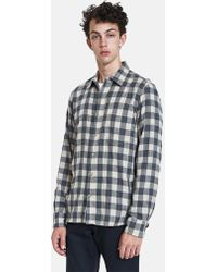 Rogue Territory - Traveler Shirt In Grey/khaki Plaid - Lyst