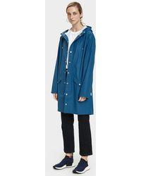 Rains - Long Rain Jacket In Faded Blue - Lyst