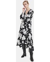 Ganni - Kochhar Silk Wrap Dress - Lyst