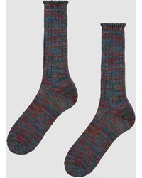 Anonymous Ism - 5 Color Mix Crew Sock In Red/green - Lyst