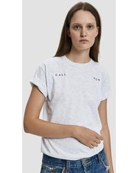 Collina Strada - Embroidered Call Mom Tee - Lyst
